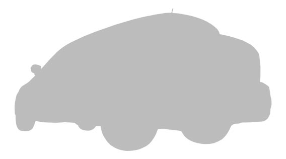 Silhouette of a car